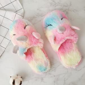 Image 5 - חורף Unicorn ביתי אנטי החלקה מקורה בית כפכפים פעוט תינוק בנות בני פעוטות ילדים teen נעלי בית נעלי ליל כל הקדושים