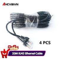 Value-Cable de red Ethernet RJ45 de 20M y 65 pies, Cable LAN impermeable para exteriores, sistema de cámara IP CCTV, 4 Uds.