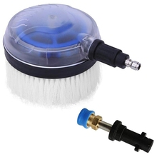 High Pressure Washer Rotating Wash Brush with 1/4 Inch QC,1/4 Inch Blue Holder Coupler Brass Female Quick Connector