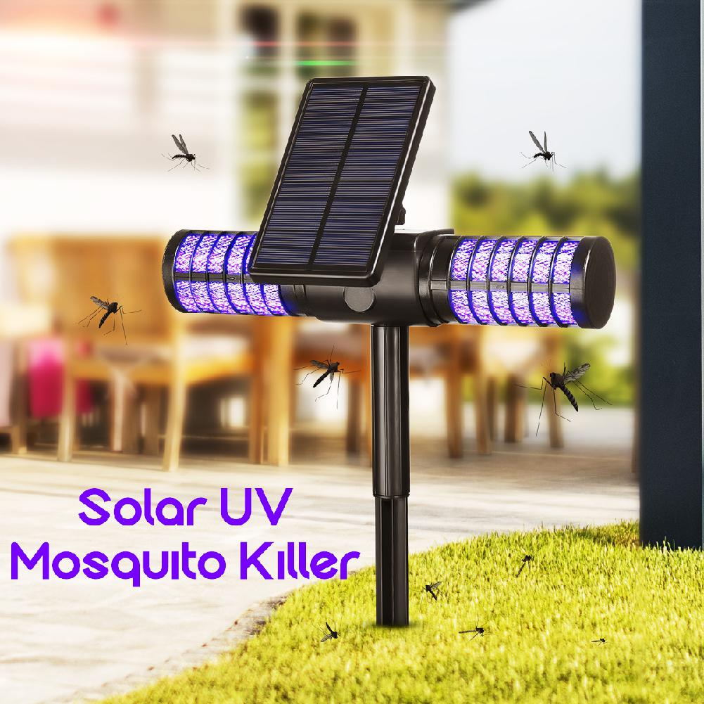 Led Solar Mosquito Killer LIght IP65 Waterproof USB Mosquito Insect Trap Lamp Automatic UV Bug Zapper Wall Light