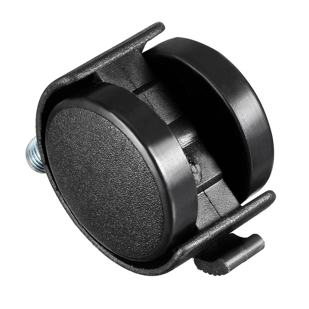 Uxcell rodas giratórias de nylon, 4 peças-20 peças de 1.5 polegadas, 2 polegadas, 360 graus m6 m8 m10 rosqueado roda resistente sem freio-4