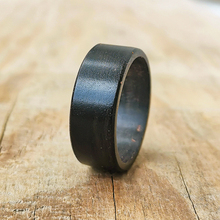 8mm Black Natural Wood Wedding Band Mens Wooden Engagement Rings Classic Minimalism Jewelry Anniversary Promise Gift