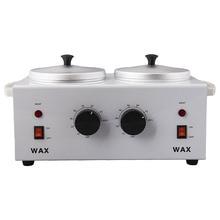 цена Double Pot Hot Wax Machine Beauty Melting Wax Pot Handmade Soap Wax Furnace Double Head Temperature Adjustment Melting Machine онлайн в 2017 году