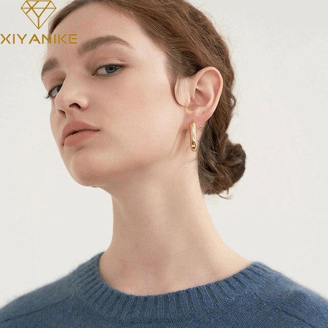 Sterling trendy O shaped earrings 6