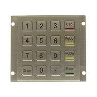 لوحة المفاتيح المعدنية المخرب برهان وعرة لوحة جبل الفولاذ المقاوم للصدأ لوحة المفاتيح لكشك USB لوحة رقمية الصناعية مع 16 مفاتيح 4*4