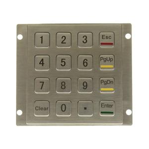 Metal Keypad Vandal Proof Rugged Panel Mount Stainless Steel Keyboard For Kiosk USB Industrial Numeric Keypad With 16 Keys 4*4(China)