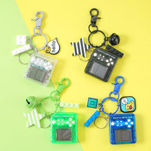 Porte-clés de voiture Mini Tetris créatif, pendentif de sac de Couple, cadeau de fête d'anniversaire, bijoux à la mode