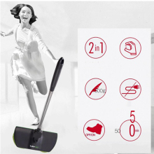 Electric 360 Degree Rotation Rechargeable Cordless Floor Cleaner Scrubber Polisher Rotary Mop Microfiber Cleaning Adjustable