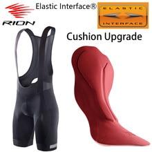 RION elástico interfaz®Pantalones cortos con pechera para Ciclismo para Hombre, medias acolchadas para bicicleta de montaña o carretera
