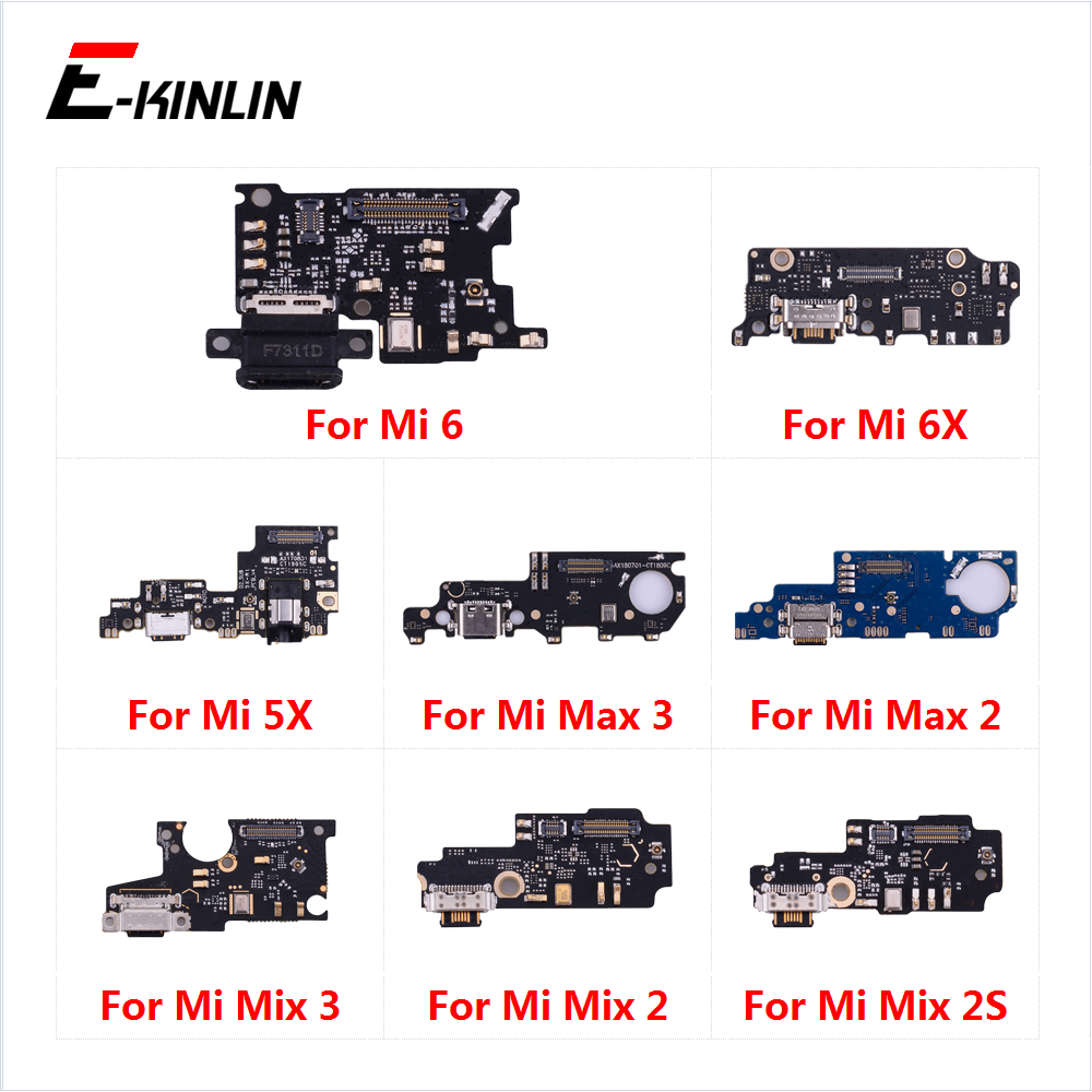 Charging Port Connector Board Parts Flex Cable With Microphone Mic For XiaoMi Mi 6 Mix 2S Max 3 2 6X 5X