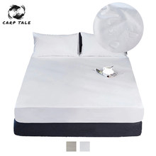 New Waterproof Mattress Protector Solid Cover For Bed Breathable Hypoallergenic Protection Pad Cover Anti-mite Bed Linens