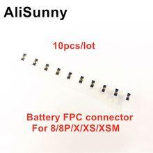 AliSunny 10pcs batteria FPC per iPhone 8 Plus X XS Max XR porta connettore a bordo Clip spina cavo flessibile parti di ricambio