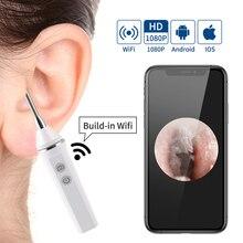 Цифровой ушной отоскоп 1080P HD 3,9 мм 2.0MP WiFi камера эндоскоп для ушей инструменты для удаления ушного воска бороскоп инструмент для чистки ушей