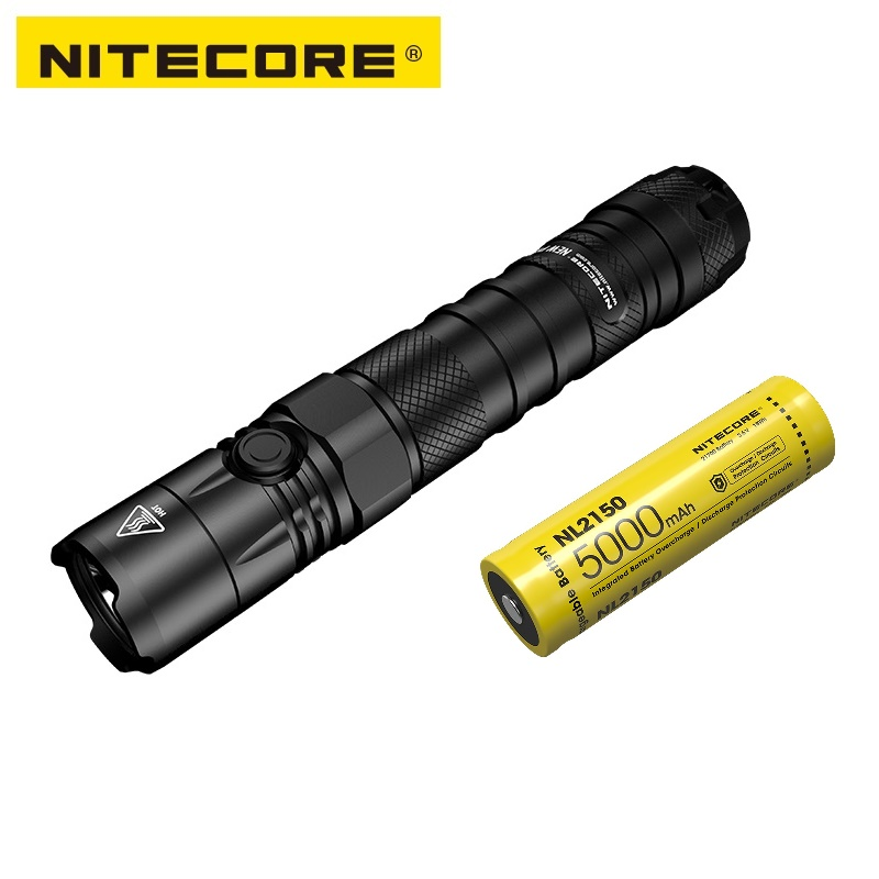 NITECORE NEW P12 Outdoor Waterproof Tactical Flashlight CREE XP-L HD V6 LED 1200 Lumens With Quick Holster
