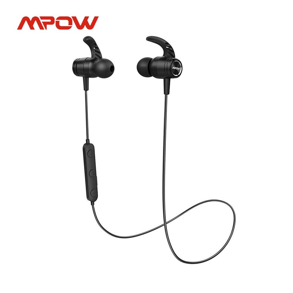 Mpow S10 Pro Bluetooth 5,0 Наушники Беспроводные спортивные наушники с микрофоном IPX7 водонепроницаемые магнитные 14 часов воспроизведения для бега тре...