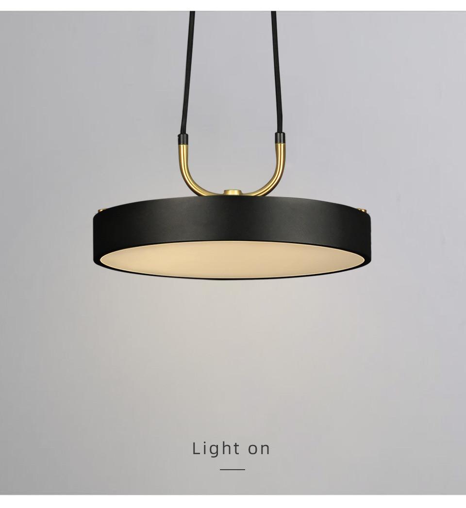 Radiant Minimalist Pendant Lamp close up