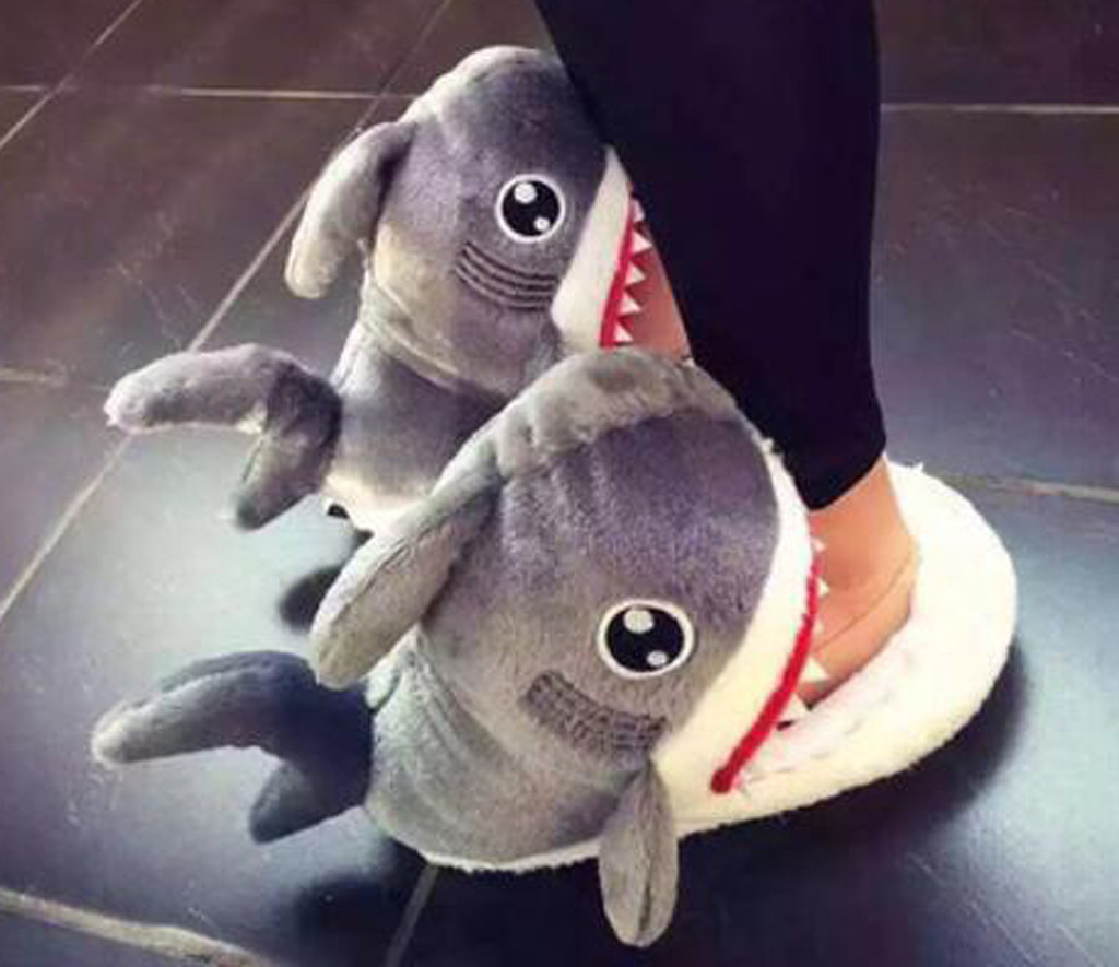 Funny Shoes Floor-Footwear Casual Slipper Shark Furry Women's Indoor Plush Winter Cartoon