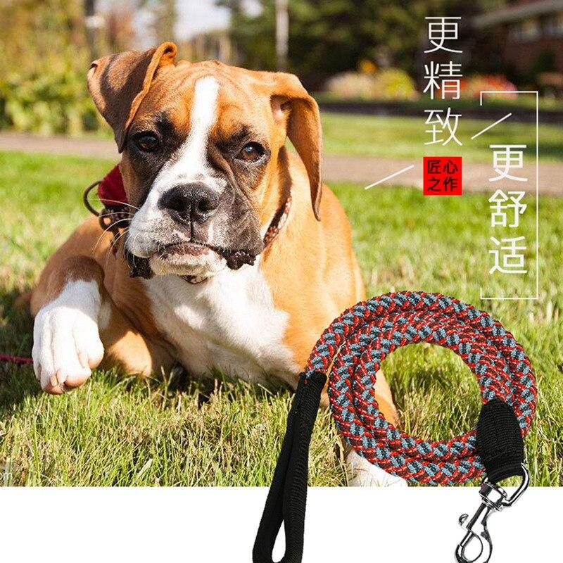 2020 Pet New Style Product Anti-slip Reflective Dog Nylon Tow Rope