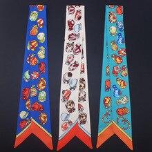 Women Headband Silk Scarf Multi-function Kerchief Handbage Ribbon Wholesale Drop Shipping / Hats Printed Hair Accessories