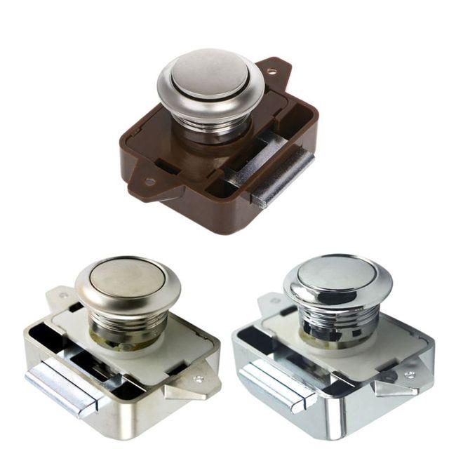 1 Pc Car Push Lock RV Caravan Boat Motor Home Cabinet Drawer Latch Button Locks For Furniture Hardware Accessories