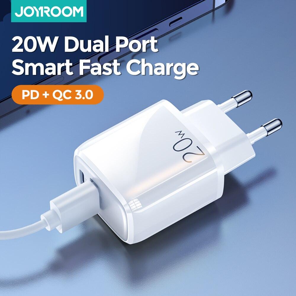 Joyroom carregador rápido usb carga rápida 4.0 3.0 tipo c pd carregamento rápido para o iphone 12 carregador usb qc 4.0 3.0 carregador para huawei
