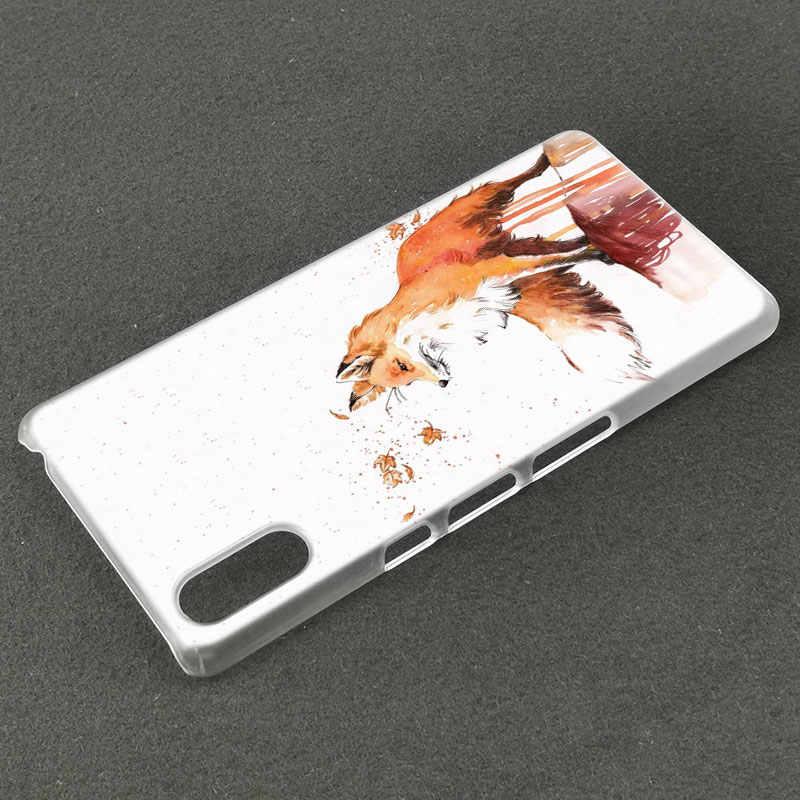 Zwierząt fox moda twarde etui do Sony Xperia L1 L2 L3 X XA XA1 XA2 XA3 Ultra 10 Plus E5 XZ XZ1 XZ2 kompaktowy XZ3 XZ5 2 20 pokrywa