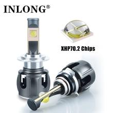 Original XHP70 H7 H11 Led Lampada Bulbs H4 H1 H8 Led Headlight Lamp Canbus No Error Hb3 9005 9006 LED Headlamp Fog Lights 6000K