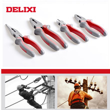 DELIXI 6/8 inches Multitool Combination Pliers /Long needle nose pilers/diagonal pilers wire cutting Hand tools kit(China)