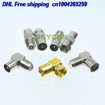 DHL 20SETs 7pcs/set Adapter F TV TO IEC PAL DVB-T female F male M Kit for Communication adapter 22cs