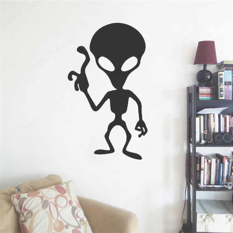YOYOYU เด็กกำแพงสติกเกอร์คนต่างด้าว Silhouette ห้องนอนสติ๊กเกอร์ติดผนัง Home Decor Living Room Wall Decal สติ๊กเกอร์ติดผนังที่ถอดออกได้ PosterHL138
