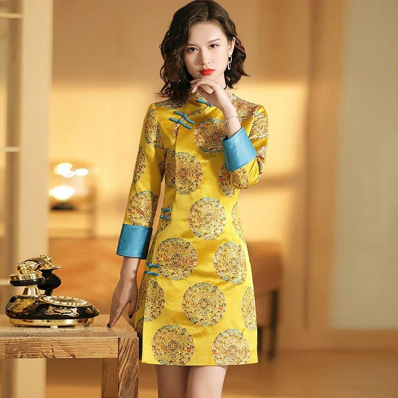 Tailor Shop Custom Made Qipao Chinese Dress  Bespoke Dress Maker  Formal Wedding Guest Dress Mother Of Bride Dress Traditional