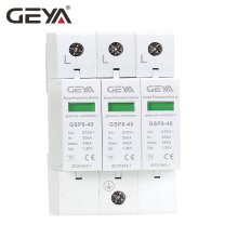 цены GEYA GSP8-3P Din Rail SPD AC275V AC385V 400V 440V 20KA-40KA SPD 3P House Surge Protection Device Low-voltage Arrester Device