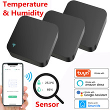 WIFI Temperature & Humidity Sensor + IR Remote Control Tuya APP Voice Control Infrared Smart Home Automation Alexa Google Home