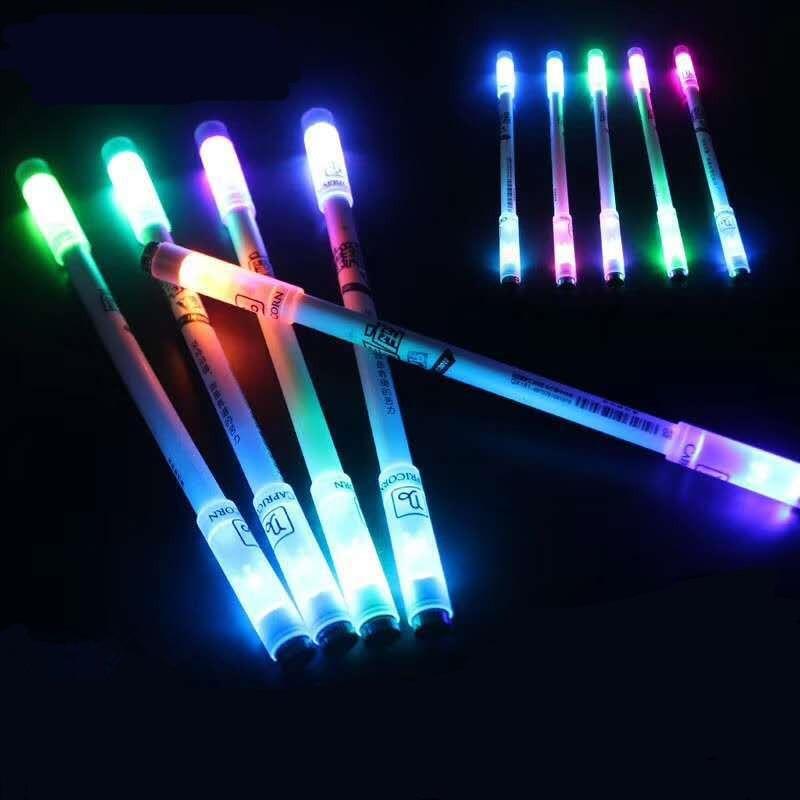 Лидер продаж, Высококачественная светодиодная гелевая ручка, 1 шт., модная крутящаяся ручка для студентов, рождественский подарок, офисные п...
