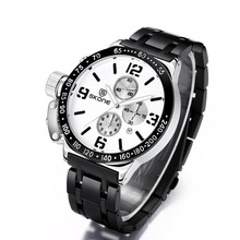 SKONE Function Chronograph Sport Watches Men Military Casual Watch Steel Band