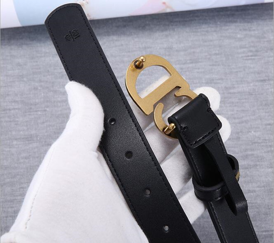 2020 Letter Belt Female Black Fine Leather Simple Wild Fashion Decoration Retro Belt Men Youth Jeans Belt