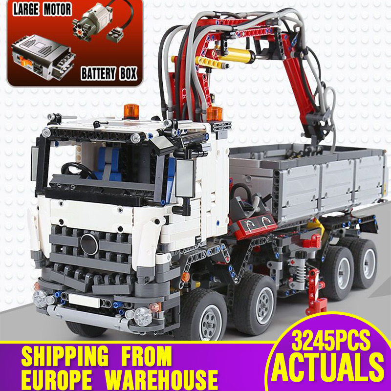 Motorized <font><b>Technic</b></font> Car Toys Compatible With <font><b>42043</b></font> Truck Car Model Building Blocks Assembly 20005 Bricks Toys Kids Christmas Gifts image