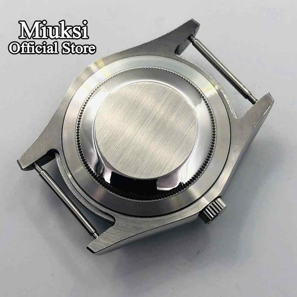 Miuksi 41mm ספיר זכוכית כסף שעון מקרה fit ETA 2836 Miyota 8205 8215 821A Mingzhu DG 2813 3804 תנועה