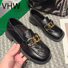 Women Oxford Shoes 2021 Spring Ladies Fashion British Style Leather Shoes Black Vintage Casual Women Platform Casual Shoes Flats