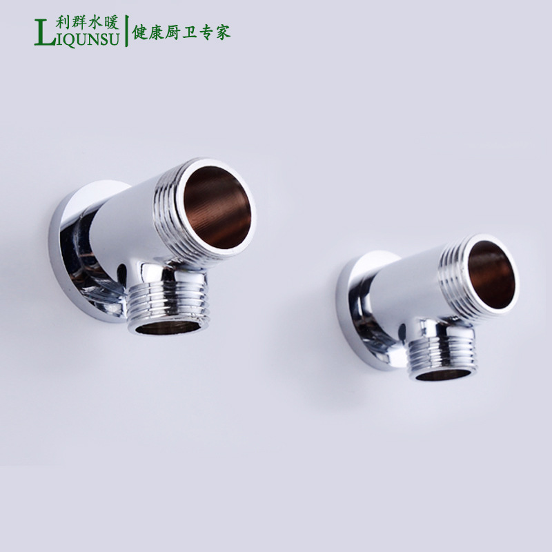 Copper Thick Shower Faucet Connector Concealed Surface Mounted Switch Fixed Foot Stool 4/6 Points Converter Accessories Mixed Ba