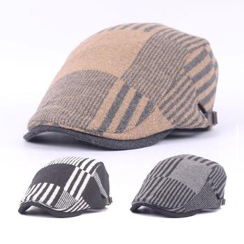 Czapki wędkarskie wełna mieszana czapki z daszkiem czapki wędkarskie męskie damskie jesienne i zimowe Beret grube czapki wędkarskie wełniane czapki tanie i dobre opinie JC-133 W paski Parasolka Z wełny