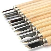 12 шт. профессиональный нож для резьбы по дереву, набор ручных инструментов для основной детальной резьбы по дереву