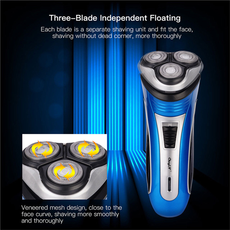 Electric Hair Beard Trimmer USB Rechargeable Shaver 3D Floating Heads Razors For Men Bareheaded Shaving Face Care Hair Cutting45