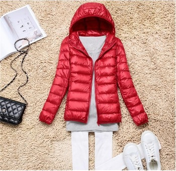 Ultra-light Plus Size Thin Down Jacket Women 2020 Autumn Winter Slim Short Hooded Warm White Duck Down Coat Women Outerwear 90% ultra light plus size thin down jacket women 2019 autumn winter slim short hooded warm white duck down coat women outerwear