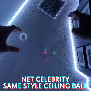 Fluorescent Sticky Wall Ball Ceiling Tossing Ball Sticky Target Ball Stress Relief Toy Novelty Kids Adults Play Vent Toy Gift