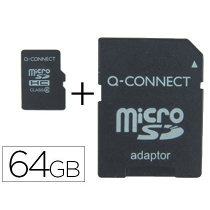 SD MEMORY MICRO Q-CONNECT FLASH 64 hard GB CLASS 10 WITH ADAPTER