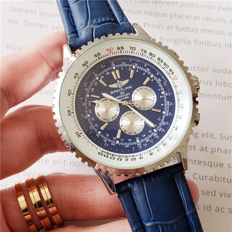 Nuevo reloj de pulsera mecánico de lujo Breitling para hombre, relojes de cuarzo con correa de acero inoxidable, relojes automáticos para hombre