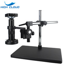 Full HD 38MP 2K 1080P Electronic Video Microscope Camera TF Card Storage 120X 180X 300X HDMI USB Magnifier for Welding Repair