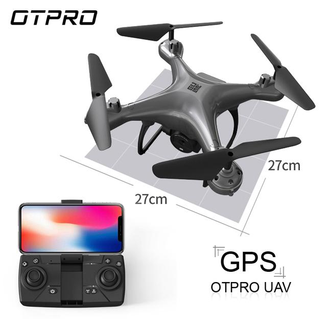 OTPRO GPS mini Drone FPV with 4k 1080p Profissional Camera Wifi RC Drones Selfie Follow Me Quadrocopter Toys Boy vs HS120D