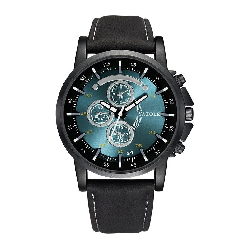 2019 Yazole Luminous Men Watch Luxury Top Brand Business Male Clock Quartz-wristwatch Leisure Leather Quartz Watch Relogios